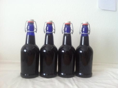 Bottled Kombucha, ready to go in the Fridge.